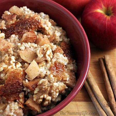 Slow Cooker Cinnamon Apple Oatmeal